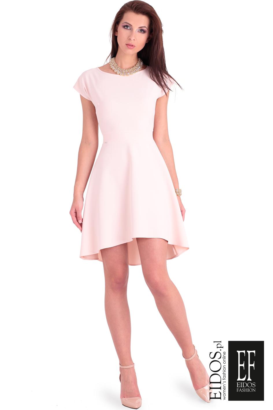 0aa82b05b0 Rozkloszowana sukienka na wesele BUENA VISTA pastelowa - EIDOS.p