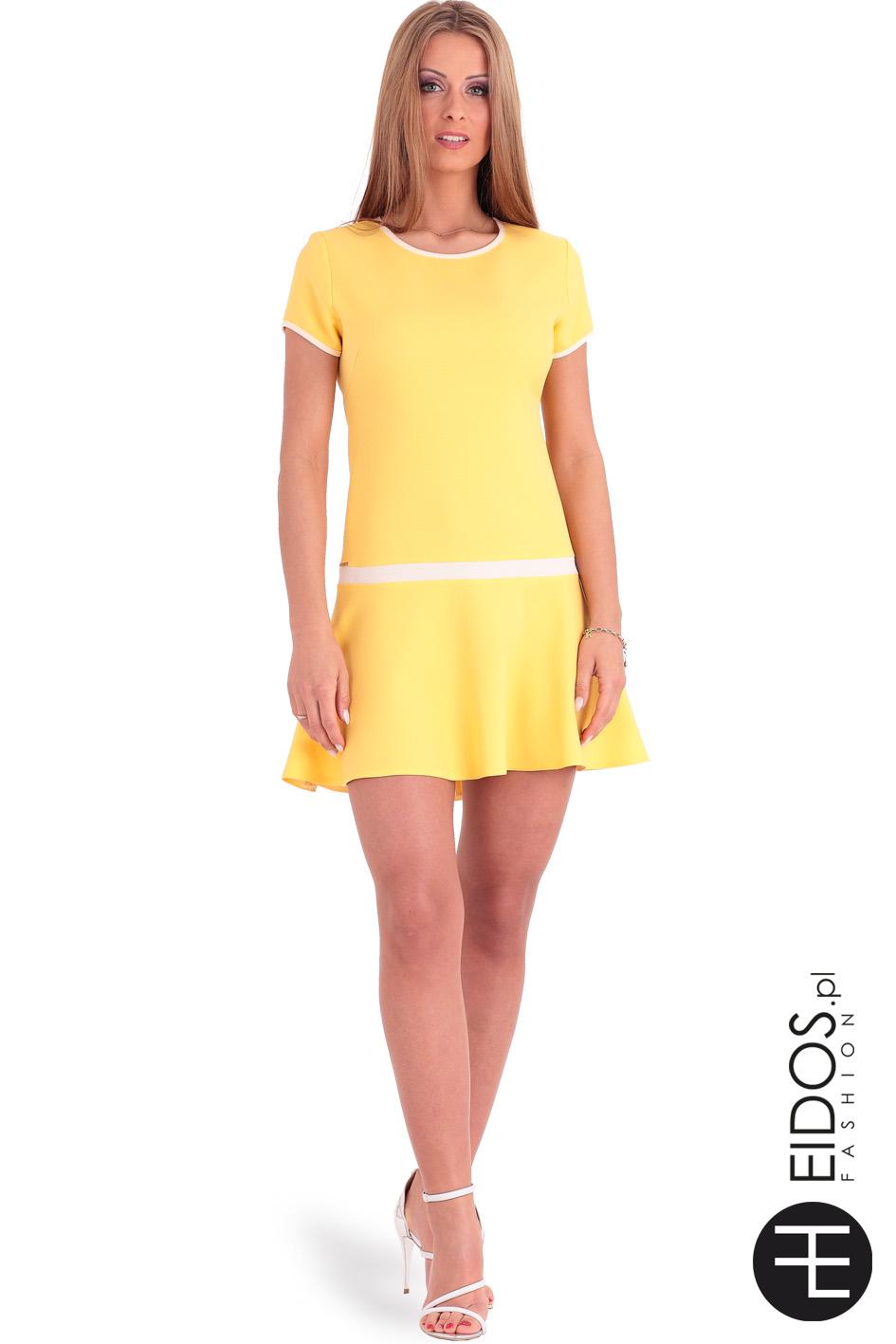 5151bafe2a Letnia sukienka na wesele HONEY żółta - Eidos Fashion