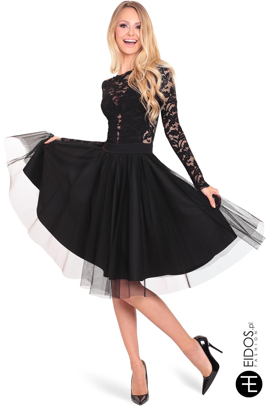 ab69123424 Sukienka BLACK SWAN czarna - EIDOS.pl