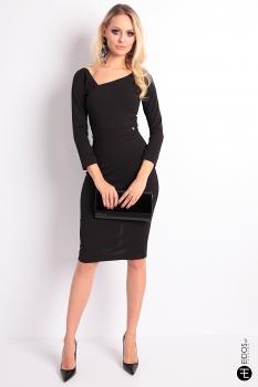 97b8a935f7 D26012019-03. NIEDOSTĘPNY. Sukienka MALENA czarna