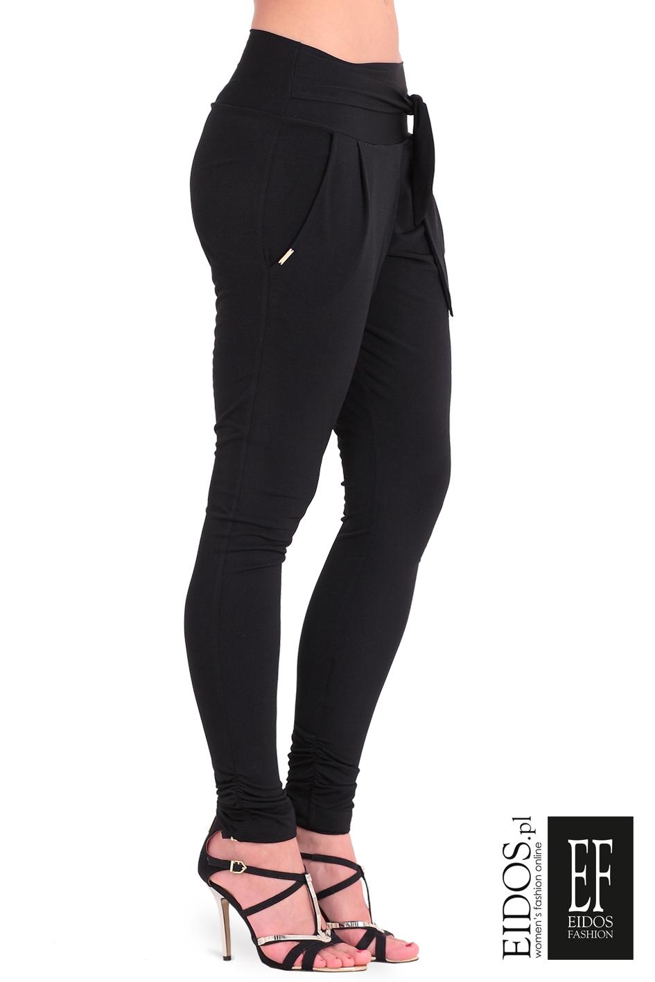 bd8498ca Damskie spodnie NEW YORK czarne - Eidos