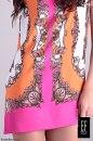 Sukienka POMARAŃCZOWO-RÓŻOWA