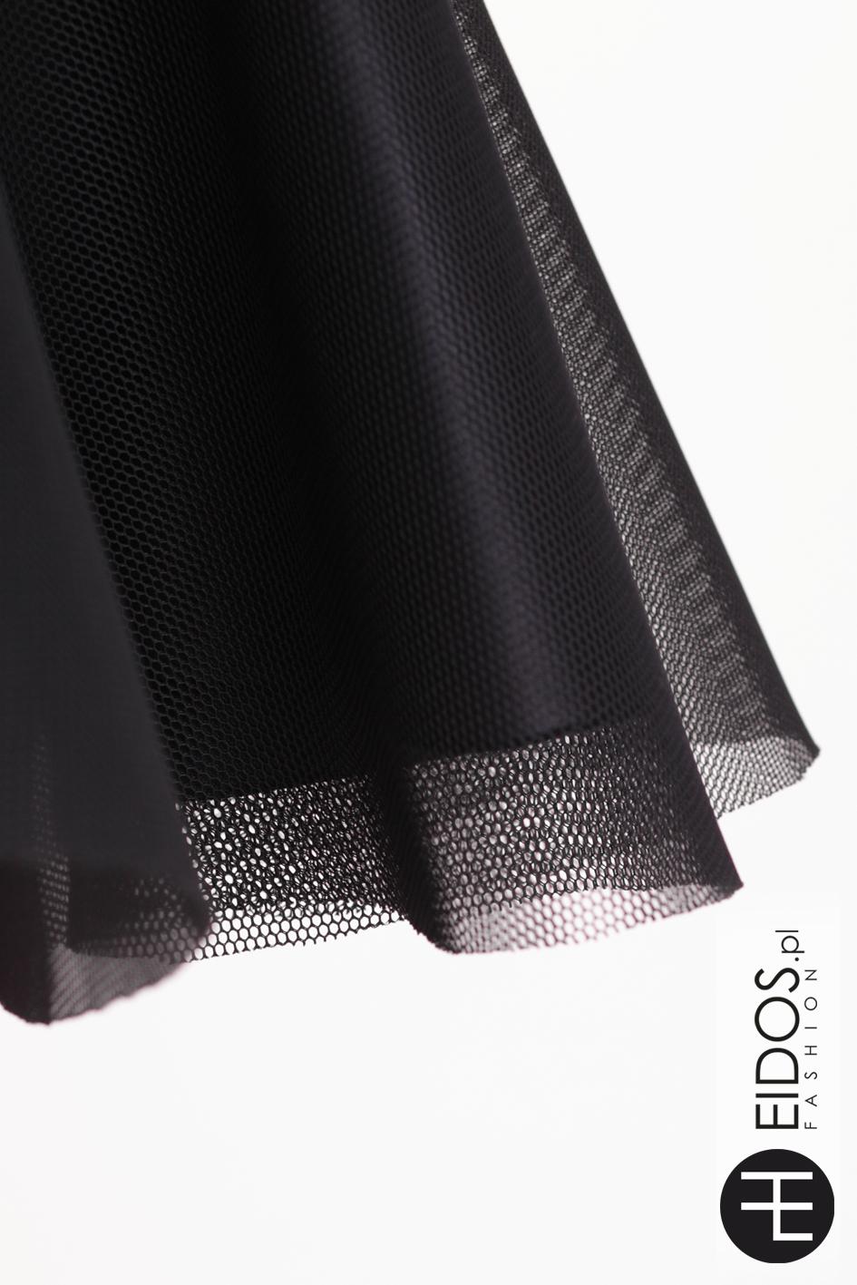 908fc55c98 Czarna sukienka z gorsetem i tiulem marki Eidos Fashion