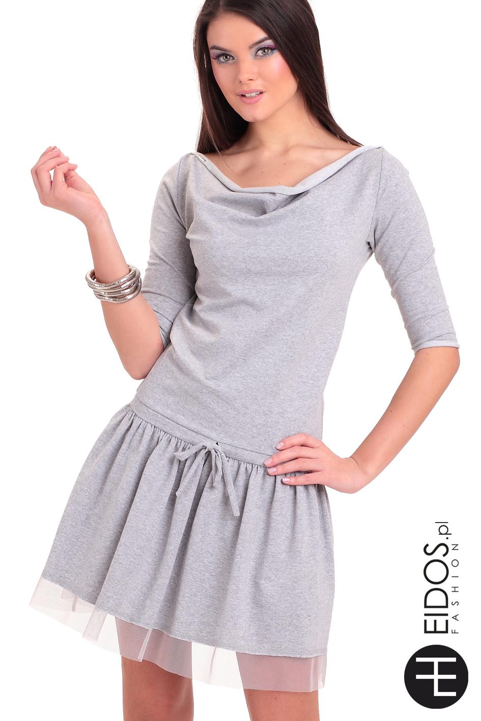 fb42337d23 Sukienka MARCELA SUMMER szara bawełna · Sukienka MARCELA SUMMER szara  bawełna ...