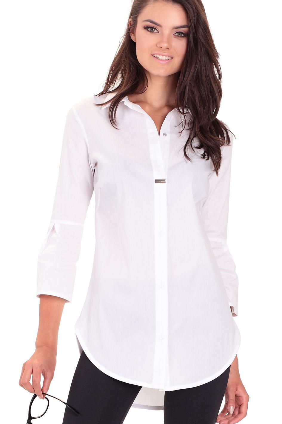 Najnowsze Bluzka koszulowa RACHEL biała - EIDOS.pl IO94