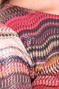 Sukienka AUTUMN WAVES malinowo-beżowa