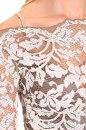 Sukienka ABELLA oliwkowo-ecru koronka