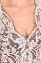 Sukienka SELENA oliwkowo-ecru koronka