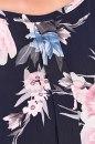 Bluzka TEFE granat w kwiaty