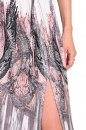 Sukienka PINK SUMMER szaro-różowo-ecru