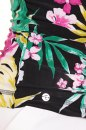Bluzka SANTO DOMINGO czarna w kwiaty