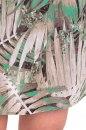 Sukienka KENIA beżowo-zielona