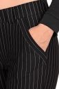 Spodnie MUSTAR czarne w prążek