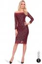 Sukienka ENVY czerwono-czarna koronka