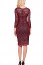 Sukienka CARLA czerwono-czarna koronka