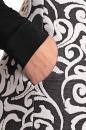 Sukienka IDRIA śmietankowo-grafitowa