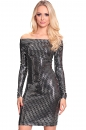 Sukienka EDEN FFLLAASSHH !!! czarno-srebrna