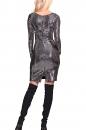 Sukienka KANO FFLLAASSHH !!! czarno-srebrna