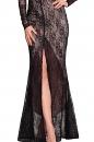 Sukienka GRAND BALL czarno-beżowa koronka