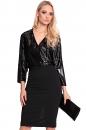Sukienka VELVET IN BELTS czarna
