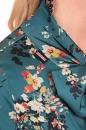 Bluzka MADLEN zgaszony turkus w kwiaty