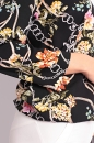 Bluzka RITA czarna w kwiaty