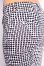 Spodnie MONA ELASTIC biało-granatowe kółeczka