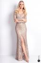 Sukienka GRAND BALL GOLD koronkowa