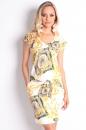Sukienka ANGY żółte wzory