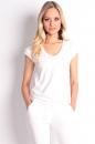 Bluzka 2V biała bawełna
