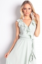 Sukienka ABELLA II pastelowa pistacja