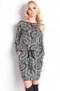 Sukienka LORI WZORY czarno-biała