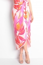 Sukienka TULIP FOCUS ORCHID ecru-amarantowa