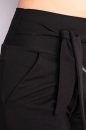 Spodnie SLANT ZIPP COTTON czarna dresówka