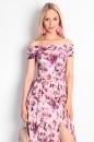 Sukienka SORIA EDEN kwiaty fioletowo-różowe