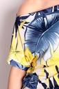 Sukienka MOLLIE niebiesko-żółte kwiaty