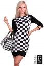 Sukienka CHESS black&white