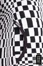 Sukienka BOXES czarno-biała