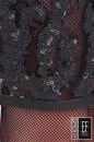 Sukienka koronkowa FEME cekiny ze skóry